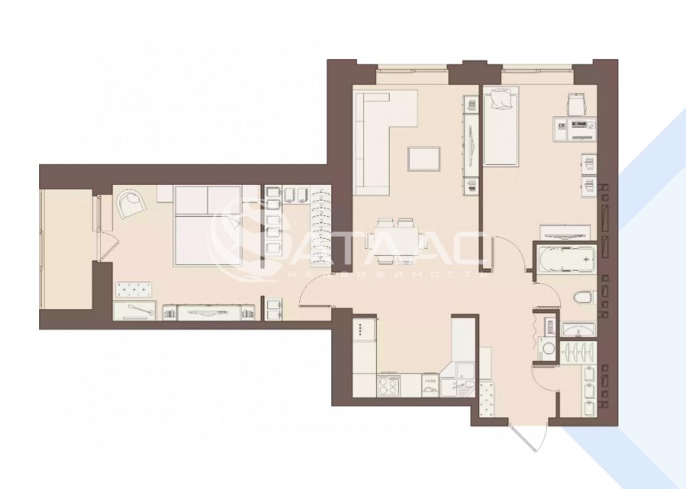 Продажа 2-комнатной квартиры, Засечное, улица Центральная,  18